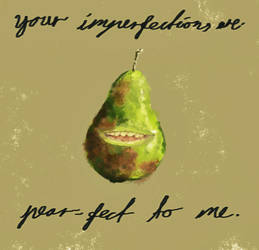 biting pear loves you