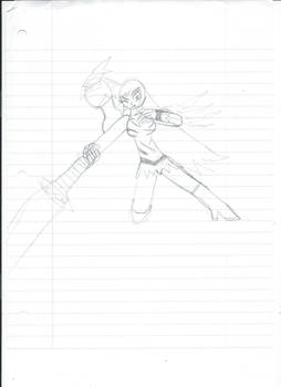 Alpha Girl battle stance