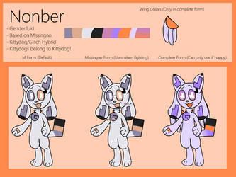 Nonber The Glitch-Kittydog Ref by ChibiMango-Flooferz