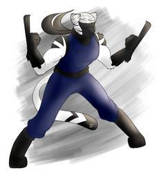 Radar Tiger in Ninja (My birthday 12) by wingwolf88