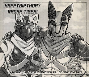 Radar Tiger - Shining 43 (My birthday 19) by wingwolf88