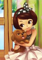 I love my baby dog by amg192003