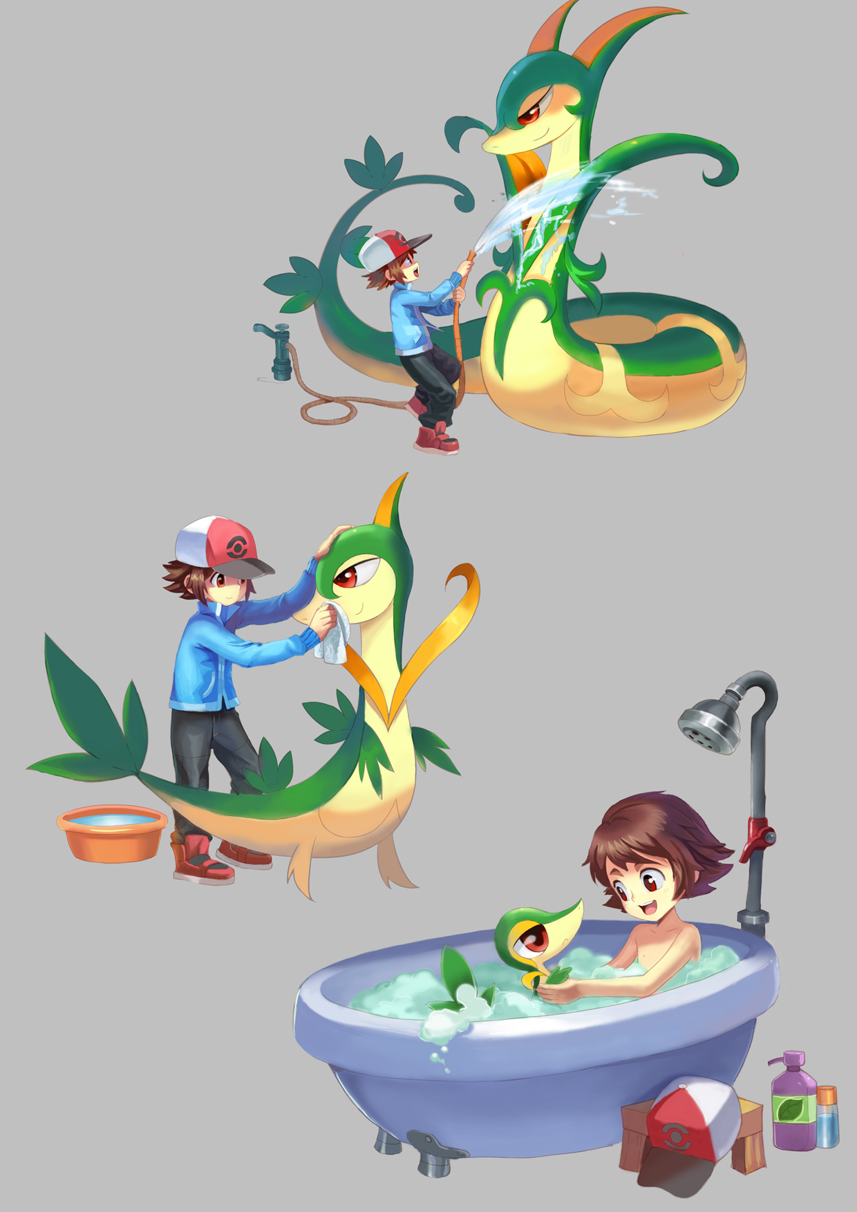 Pokemon BW    Snivy by amg192003