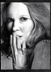 Mia Farrow. As strange as its gets