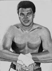 Muhammad Ali after training