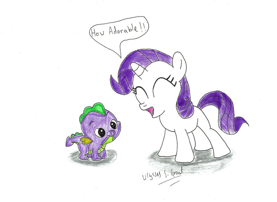 My Little Pony Friendship Is Magic Coloring Pages Fluttershy : Spike and filly rarity by ulyssesgrant on deviantart