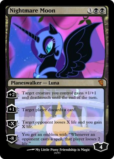 Nightmare Moon Magic Card by UlyssesGrant