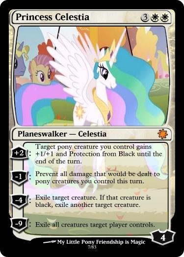 Princess Celestia Magic Card by UlyssesGrant
