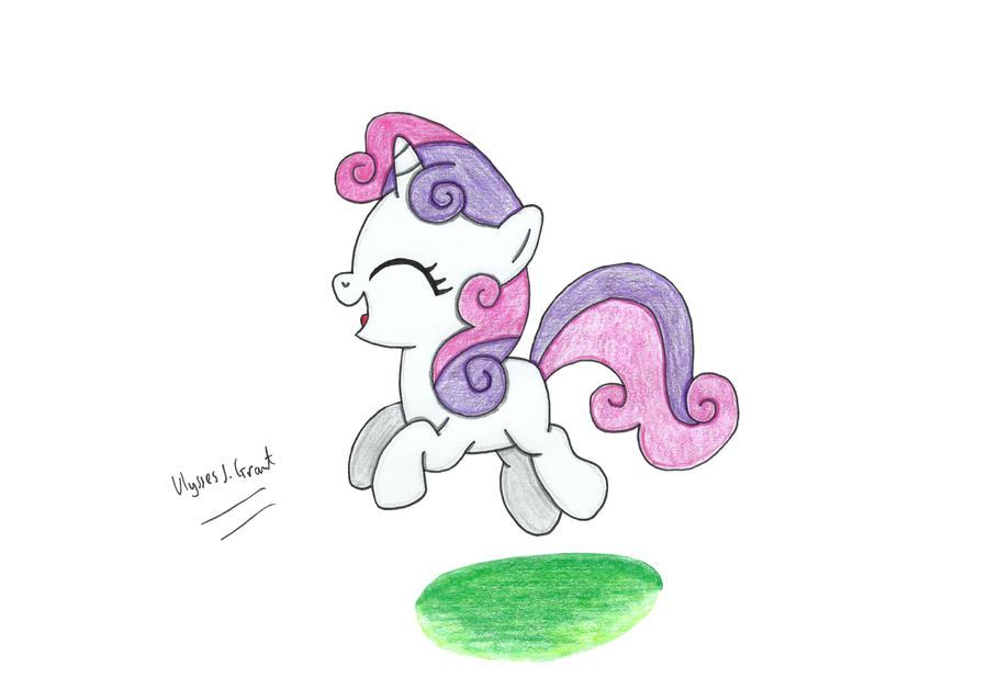 Jumping Sweetie Belle by UlyssesGrant