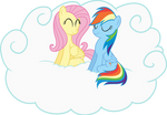 Fluttershy and Rainbow