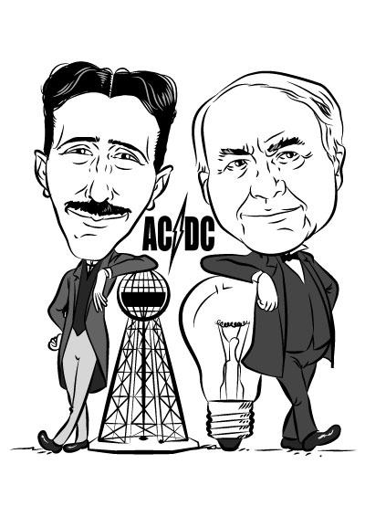 Tesla Edison Ac Dc By Crueniaone