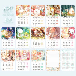 2017 Pocket Calenders available on Etsy