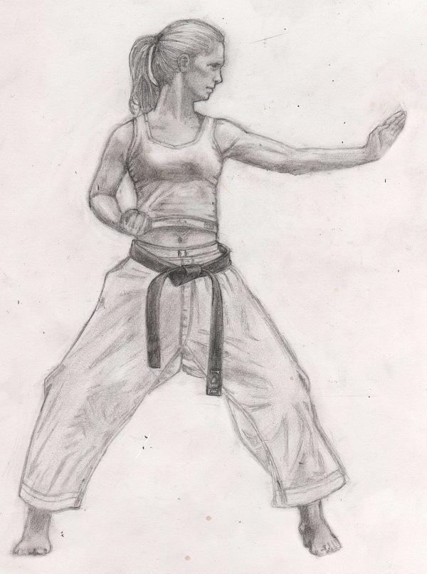 Karate Girl By Upsin On Deviantart