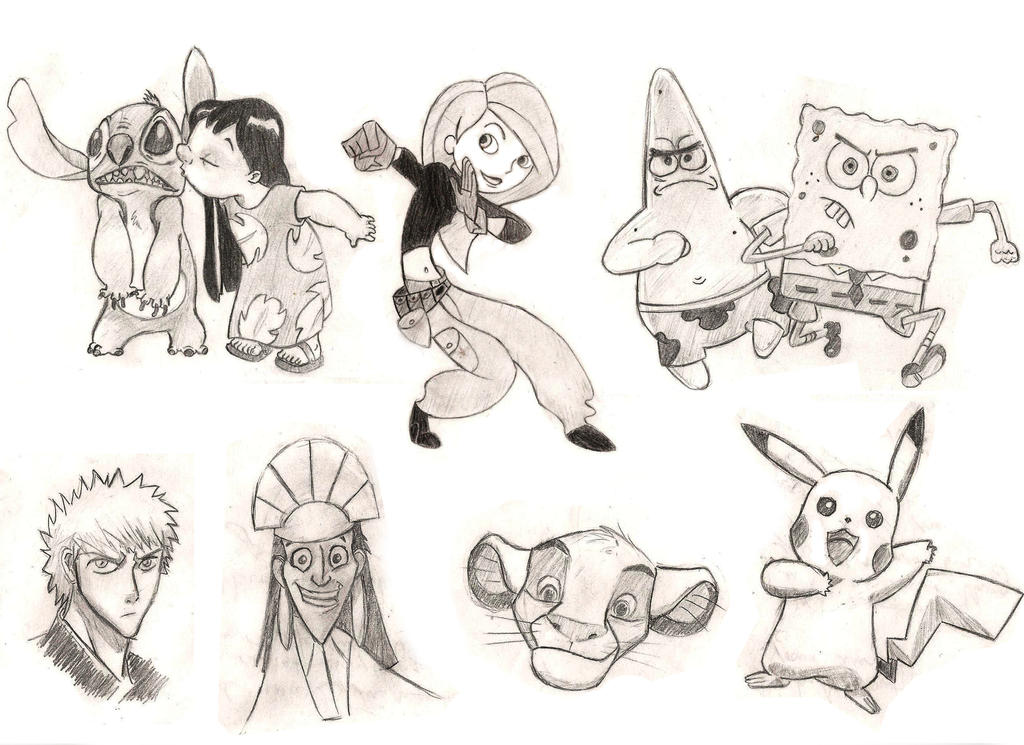 Cartoon Sketches By Mikey4080 On Deviantart