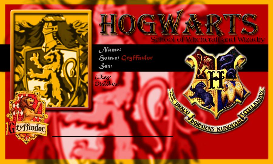 Hogwarts School Card Gryffindor Template by demonfoxnaruto on ...
