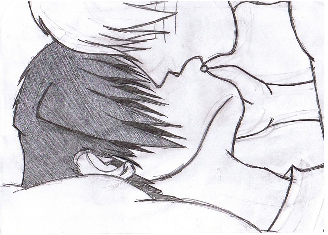 NaruSasu kiss by original-ninja-kitty