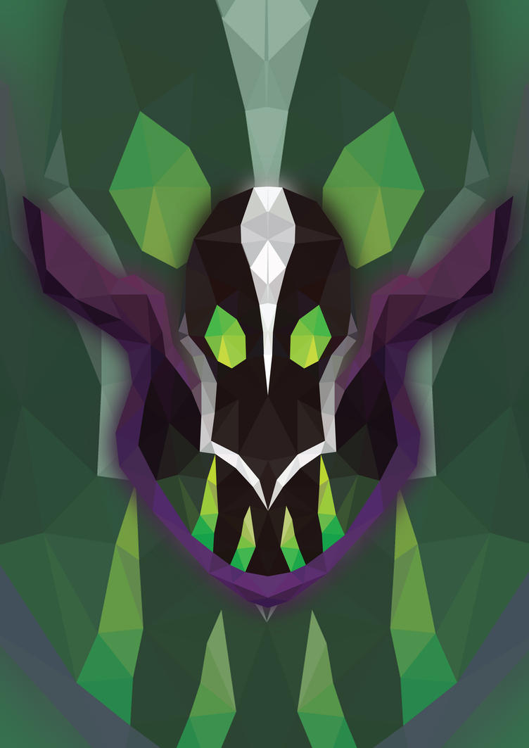 rubick from dota2 hero low poly artwork by cutelitis on