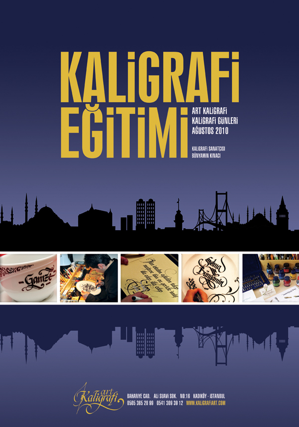 Kaligrafi Art Afis Calismasi by eskikitapci