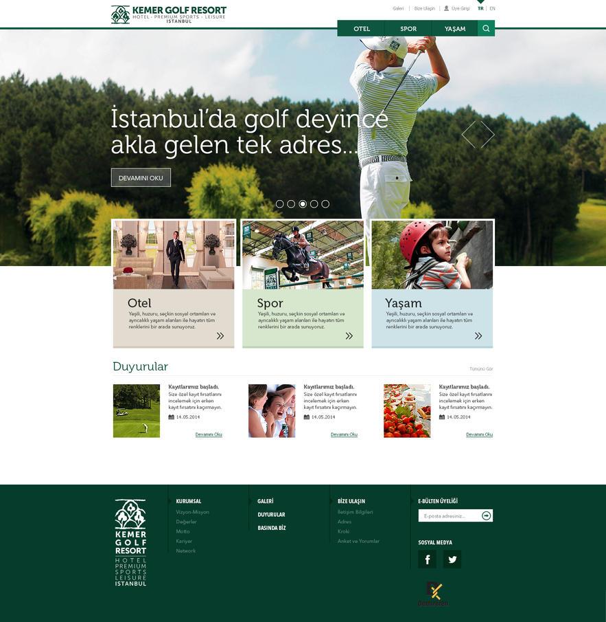 Kemer Country Website by eskikitapci
