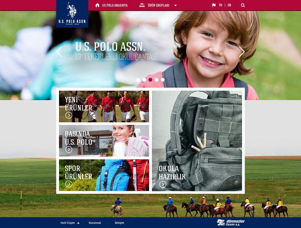 U.S. POLO Education Product Website by eskikitapci