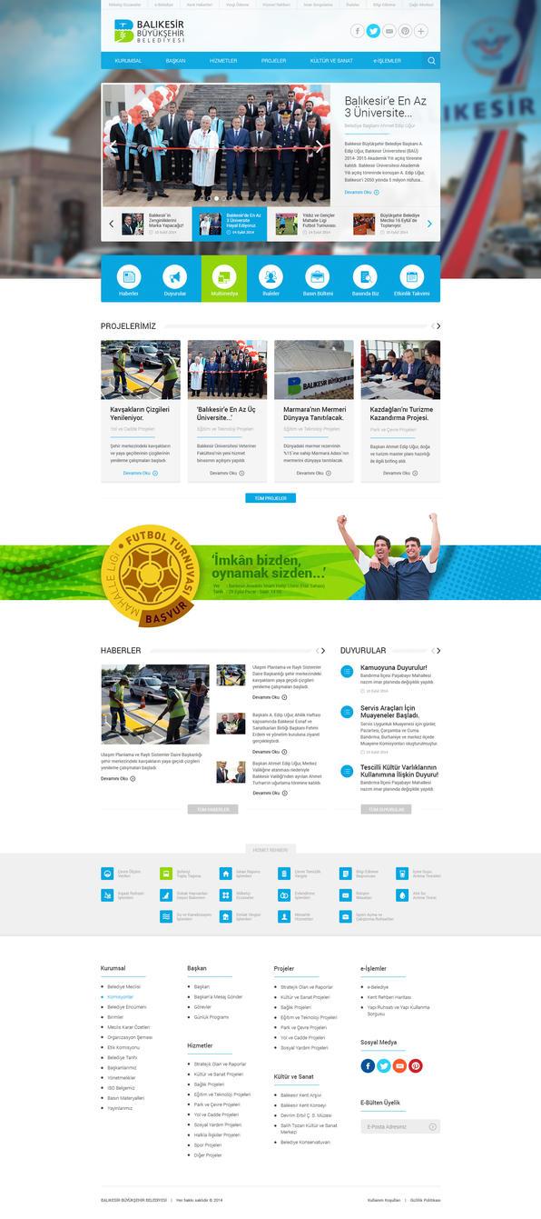 Balikesir Municipality Website by eskikitapci