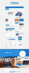 LifeStyle UI Kit by eskikitapci