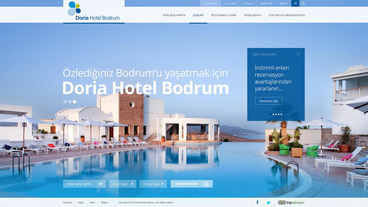Doria Hotel Bodrum Web Site by eskikitapci