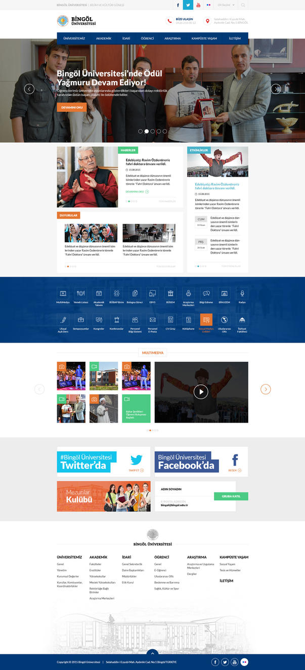 Bingol University Website by eskikitapci