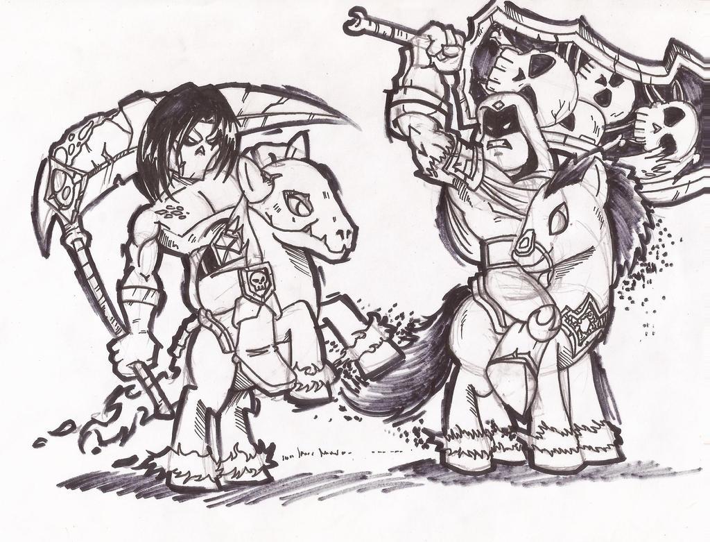darksider death and war by chacrawarrior