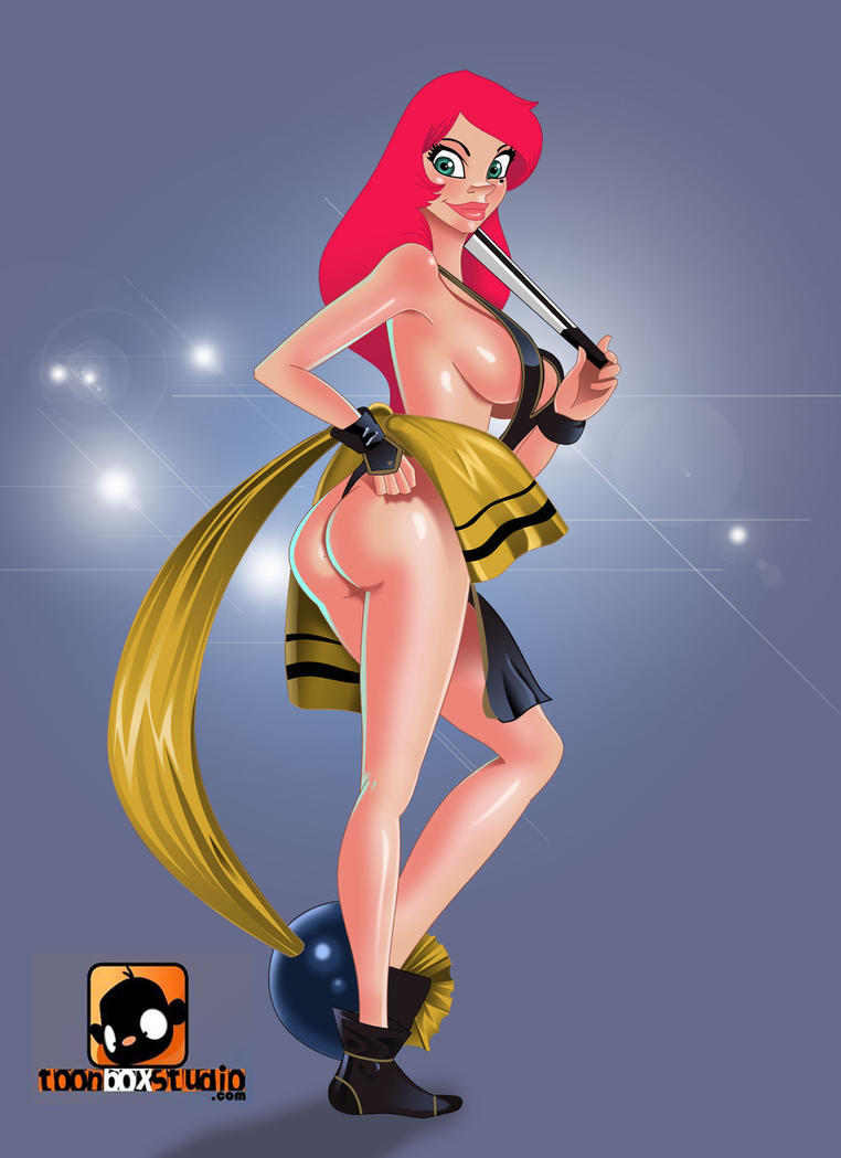 Cherry pinup fan art by chacrawarrior