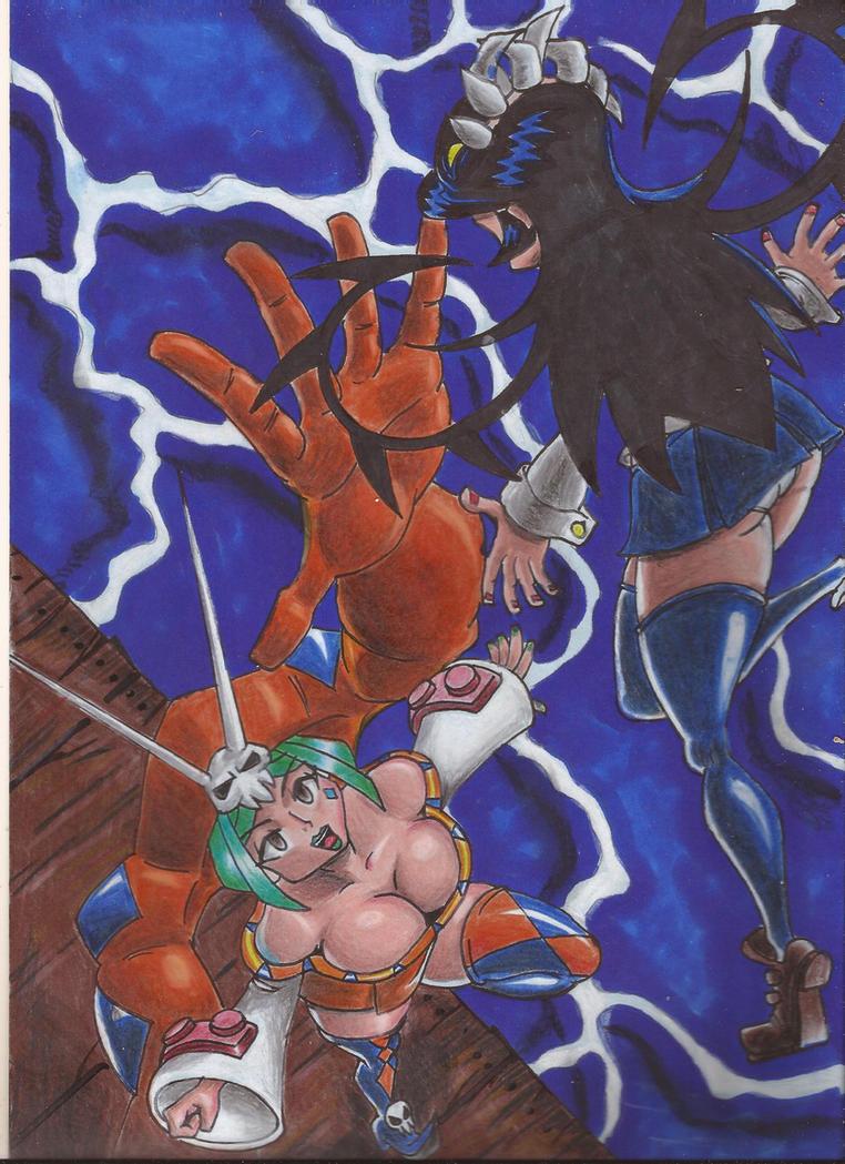 Skullgirls Cerebella Vs Filia by chacrawarrior