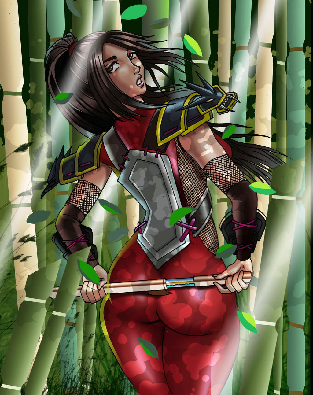 Taki-soul-calibur-bamboo-woods by chacrawarrior
