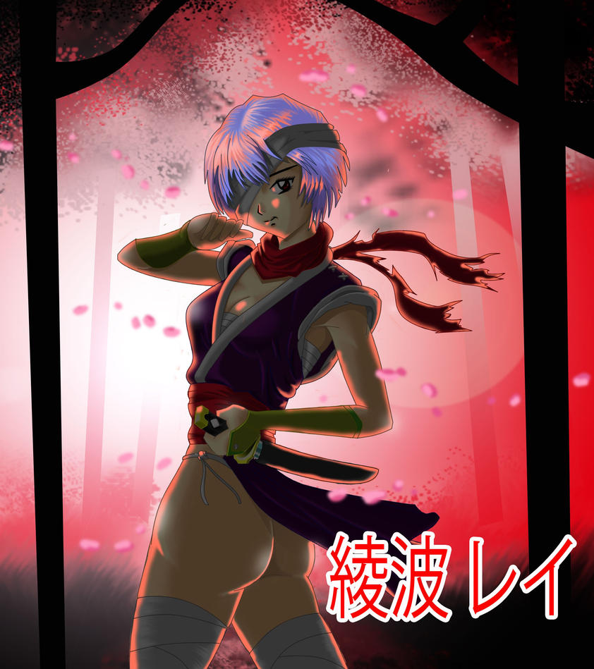 Rei-Ayanami-as-a-ninja by chacrawarrior