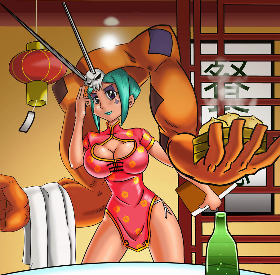 Cerebella chinese waitress by chacrawarrior