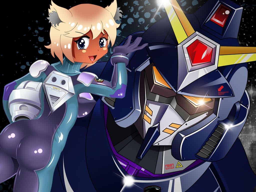 Dark skin Neko girl as a Gundam pilot by chacrawarrior