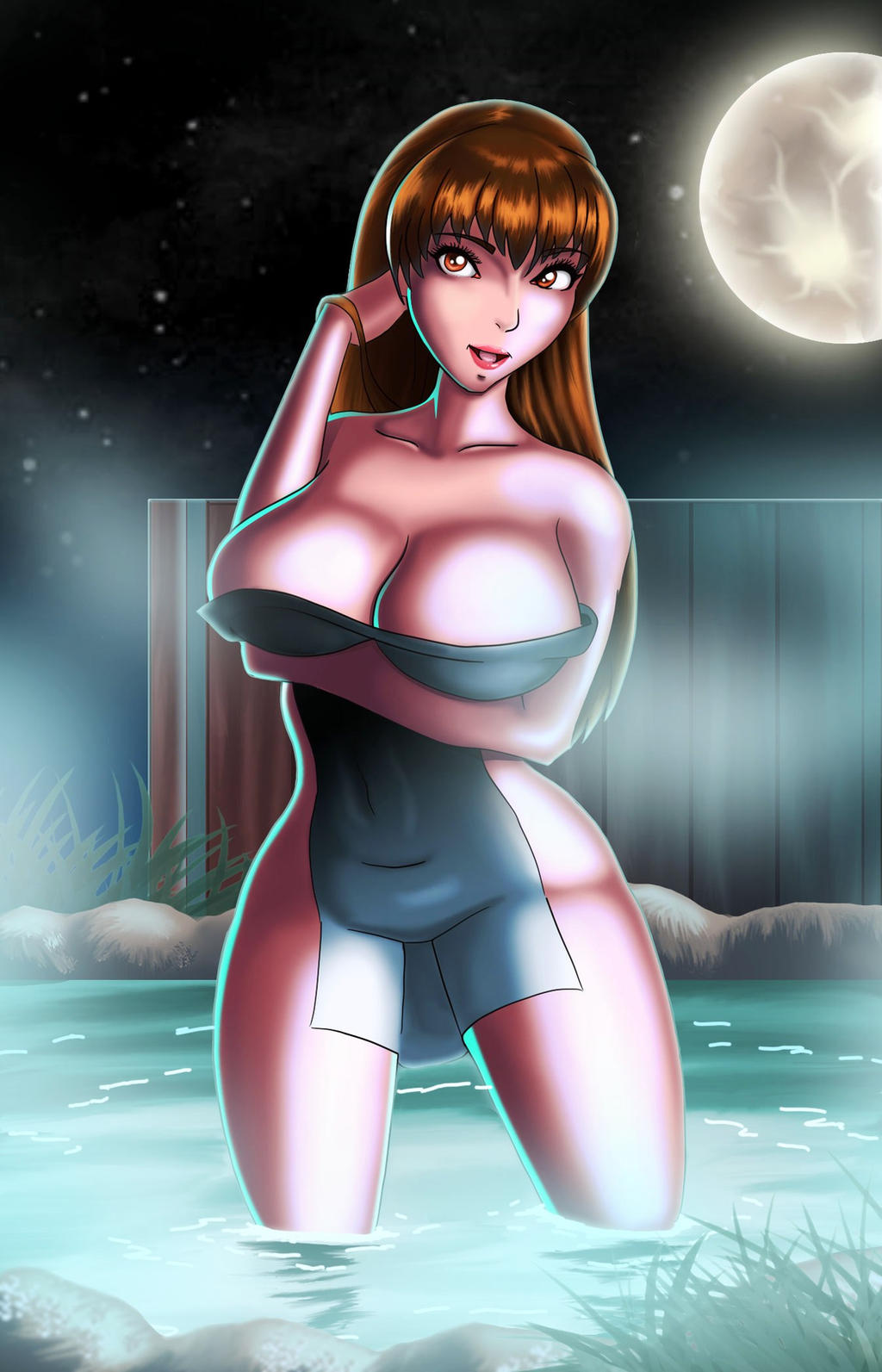 Dead or alive Kasumi in the night (for real) by chacrawarrior