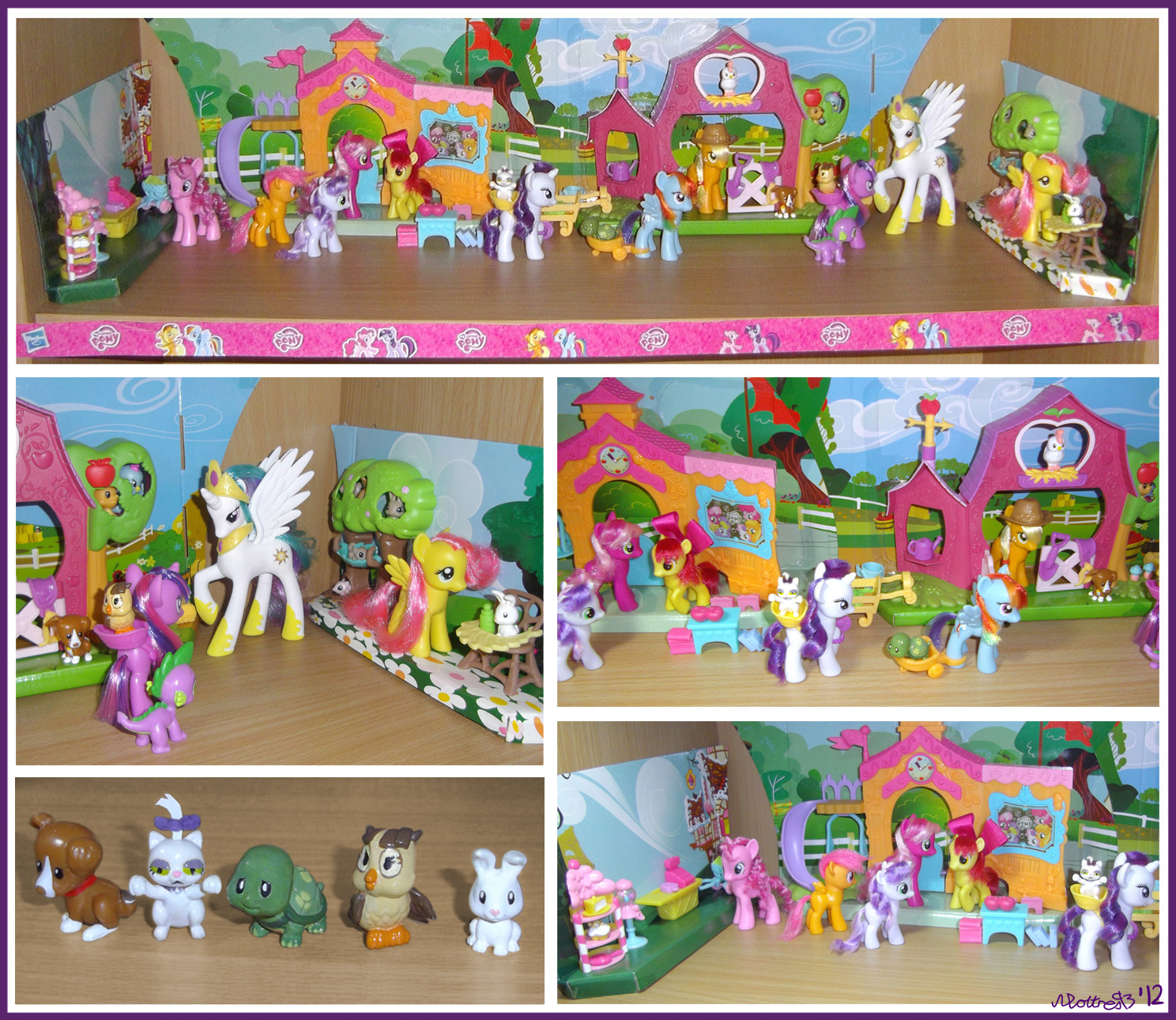 Busy Day in Ponyville (My MLP collection) by moltres93