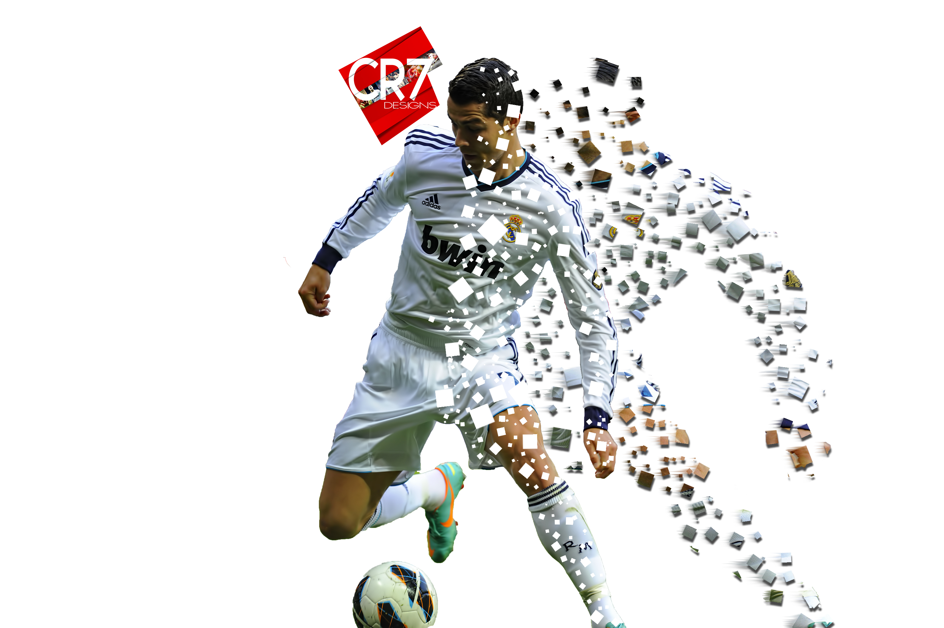 Cristiano Ronaldo Pixel Explosion Effect By Cr7designs On