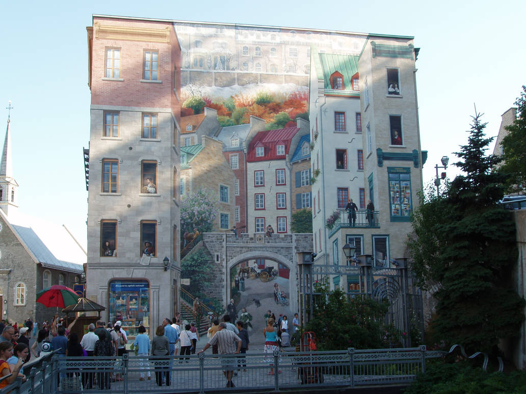 Quebec S Wall Painting By Hikari2002 On Deviantart