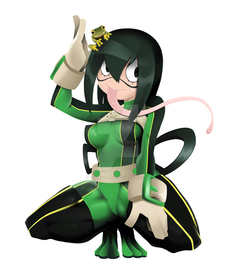 boku no hero - Tsuyu Asui by and1madrigal