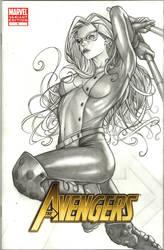 Mockingbird Avengers Sketchcov by Csyeung