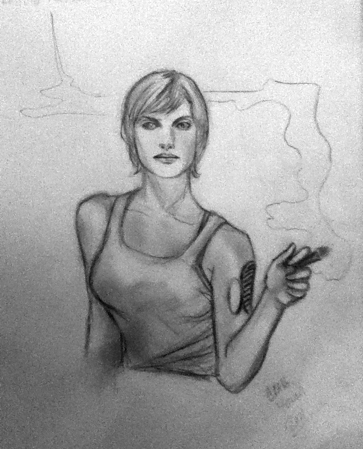 BSG Starbuck Sketch NYCC 2011 by Csyeung