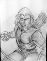 Green Arrow Sketch by Csyeung