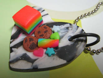 Zebra heart snack plate by skookyspry