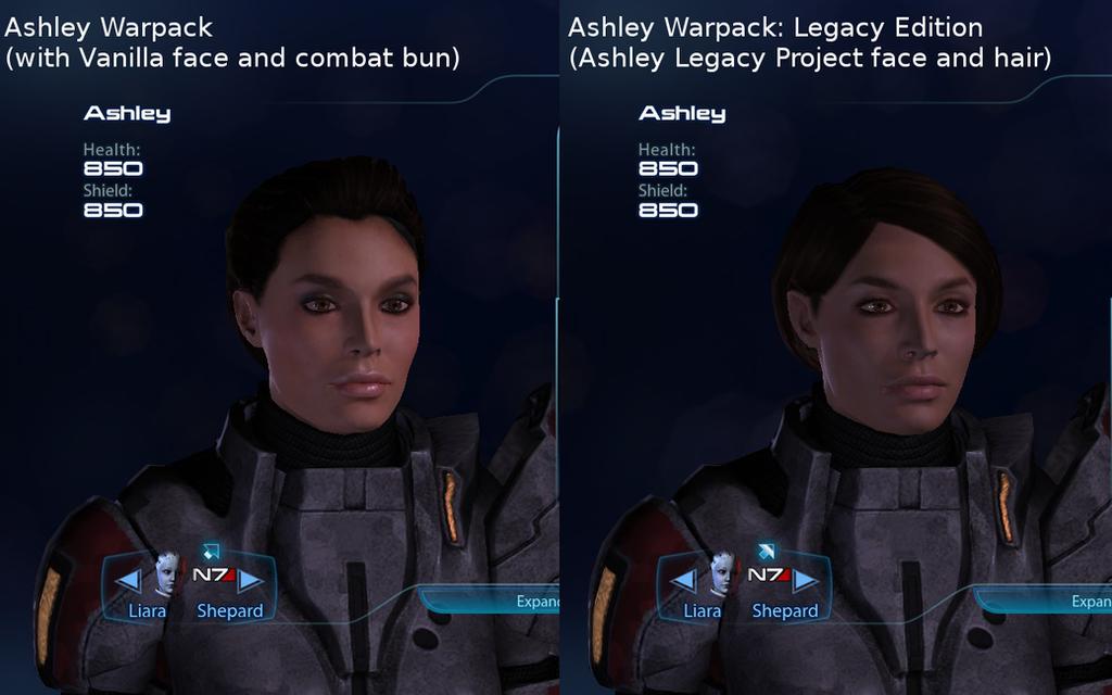 Ashley Warpack: Legacy Edition, Face Comparison by survivor686