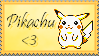Pikachu stamp by Hinageshi-Aki