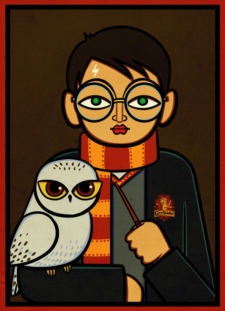 Harry Potter |  Jamini Roy Style by Navodit