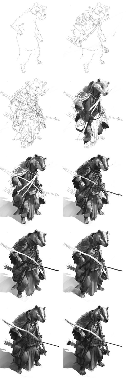 Badger step by step by Windmaker