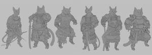 Samurai Cats by Windmaker