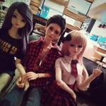 Mini meetup with my friend's new doll by faith-ramirez08